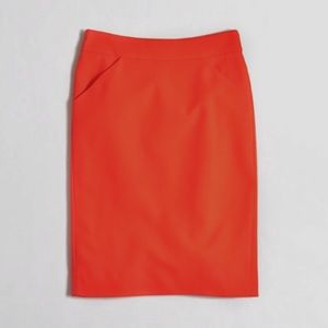 J Crew Pencil Skirt in Double Sege Cotton
